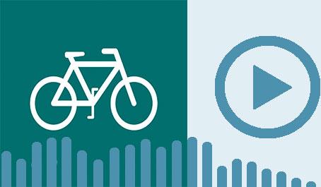 Ikon af cykel og playikon