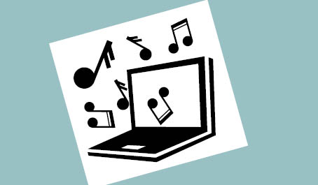 Foto af IBOS nodelæser logo. en PC med nodetegn