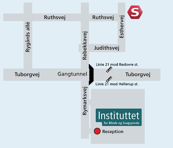 et kort over IBOS nærområde, link til google maps