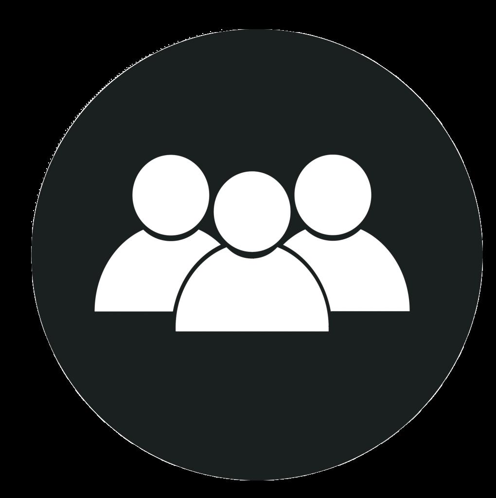 ikon af tre personer