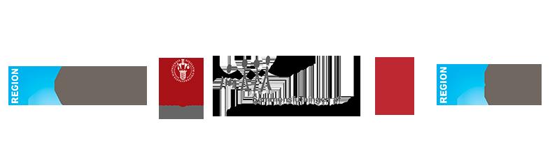 Udvalgte samarbejdspartneres logoer: Rigshospitalet, Københavns Universitet, SUMH, DTU og Herlev Hospital.
